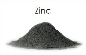 A pile of Zinc powder.