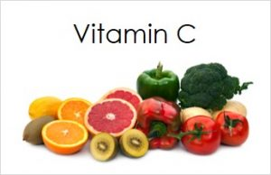 A pile of food types containing vitamin C.