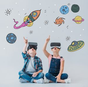 children with ADD using virtual reality headsets